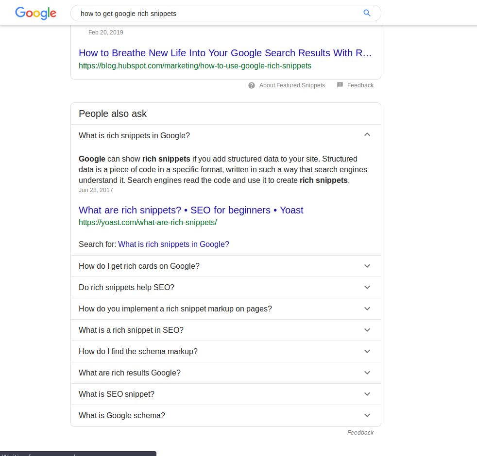 ریچ اسنیپت گوگل-نتایج جست و جوی گوگل-طراحی وب سایت در تبریز
