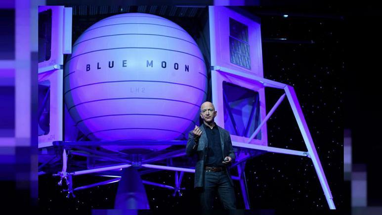 طرح بلند پروازانهی جف بزوس برای سفر به ماه رو رونمایی از فرودگر بلو مون