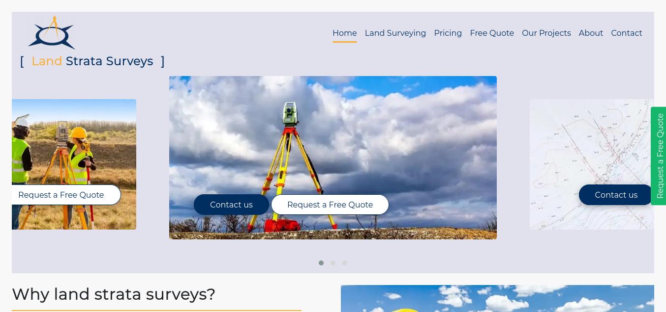 طراحی وب سایت شرکت نقشه برداری